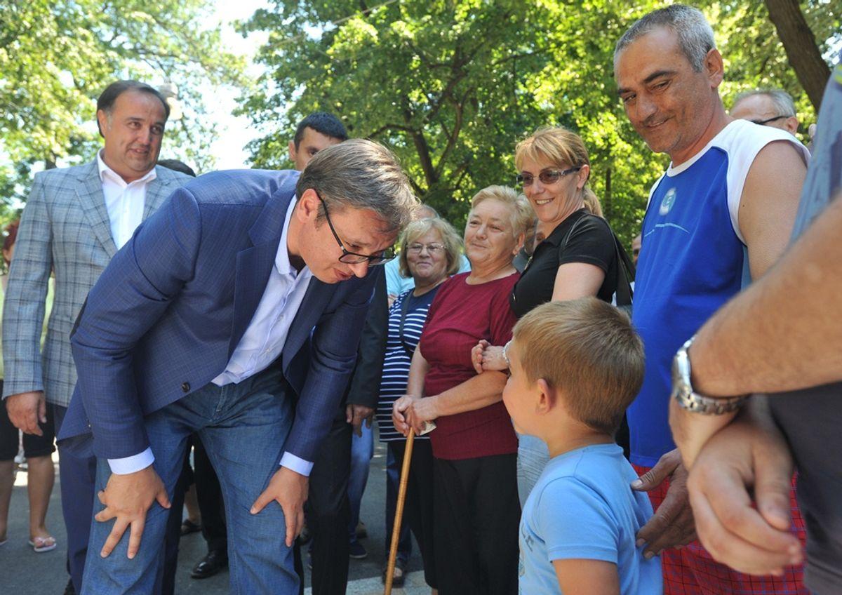 Predsednik Vučić u poseti Vrnjačkoj Banji