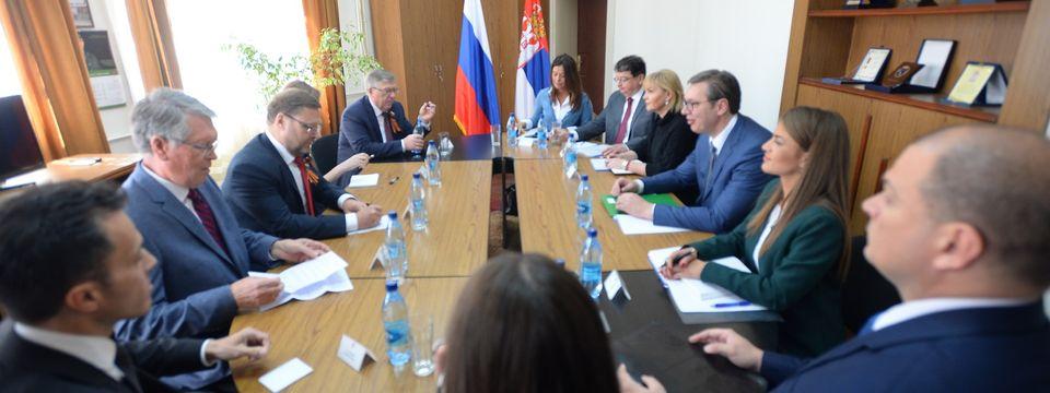 Sastanak sa predsednikom komiteta za međunarodne poslove Saveta federacije Rusije