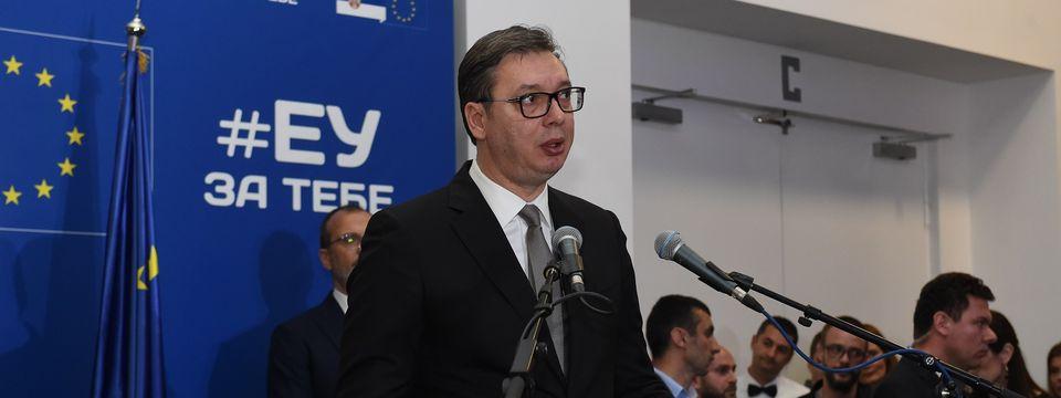 Predsednik Vučić na svečanom prijemu povodom Dana Evrope