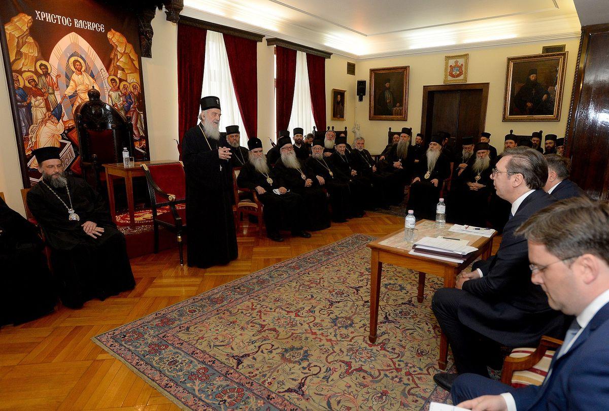 Predsednik Vučić na sednici redovnog godišnjeg zasedanja Svetog Arhijerejskog Sabora Srpske pravoslavne crkve