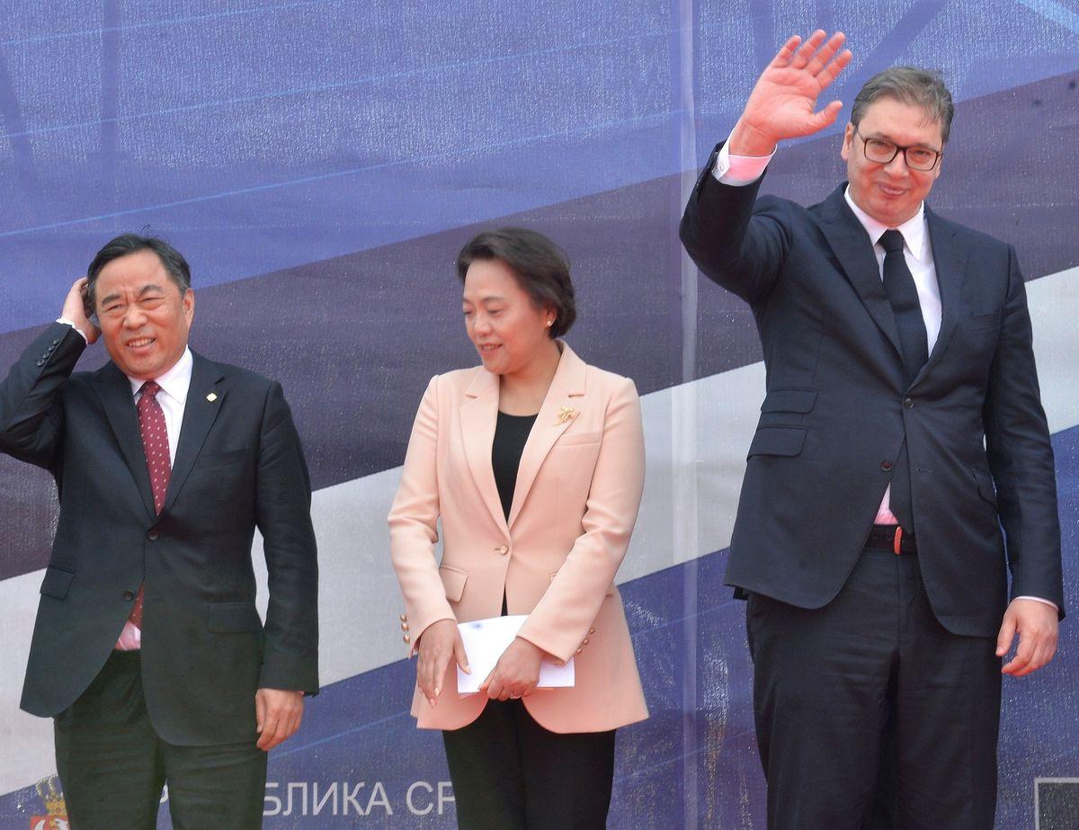 Predsednik Republike Srbije Aleksandar Vučić  prisustvuje  početku izgradnje deonice puta Preljina–Požega na auto–putu  E-763