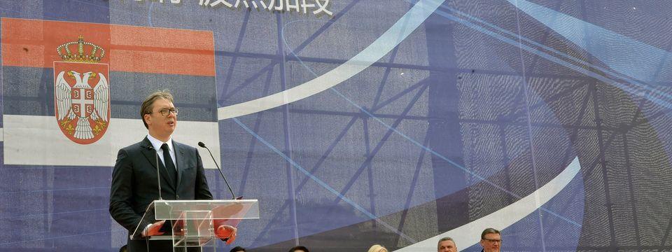 Predsednik Vučić prisustvovao početku radova na deonici puta Preljina–Požega na Koridoru 11