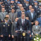 Председник Вучић на свечаној промоцији полазника Центра за основну полицијску обуку и дипломираних студената Криминалистичко полицијског универзитета