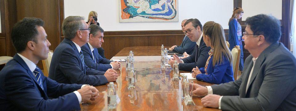 Састанак са председником Одбора за међународне послове Државне думе Федералне скупштине Руске федерације