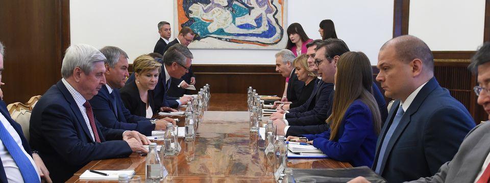 Састанак са председником Државне думе Федералне скупштине Руске Федерације