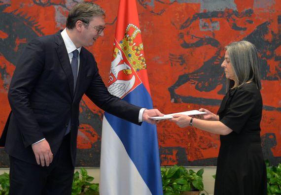 Акредитивно писмо новоименованог амбасадора Републике Португалије Марије Виржиније Мендес де Силва Пина