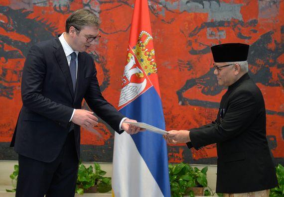 Акредитивно писмо новоименованог амбасадора Републике Индонезије Мохамад Чандра Видја Јуда