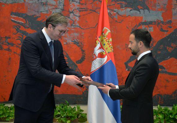Акредитивно писмо новоименованог амбасадора Боливарске Републике Венецуеле Димас Хесус Алваренга Гера