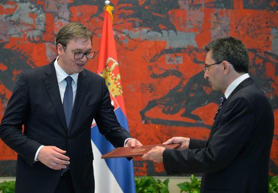 Акредитивно писмо новоименованог амбасадора раљевине Шпаније Раула Бартоломе Молина