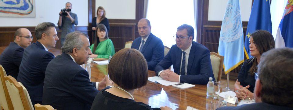 Sastanak sa specijalnim izaslanikom Generalnog sekretara Ujedinjenih nacija i šefom Misije UN na Kosovu i Metohiji