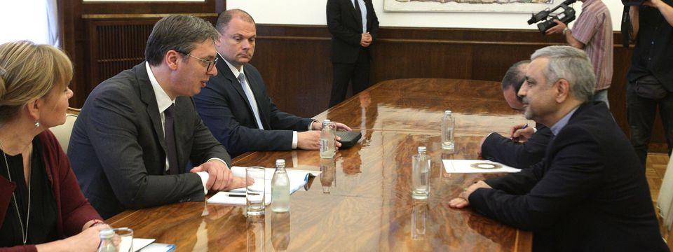 Председник Вучић састао се са амбасадором Исламске Републике Иран
