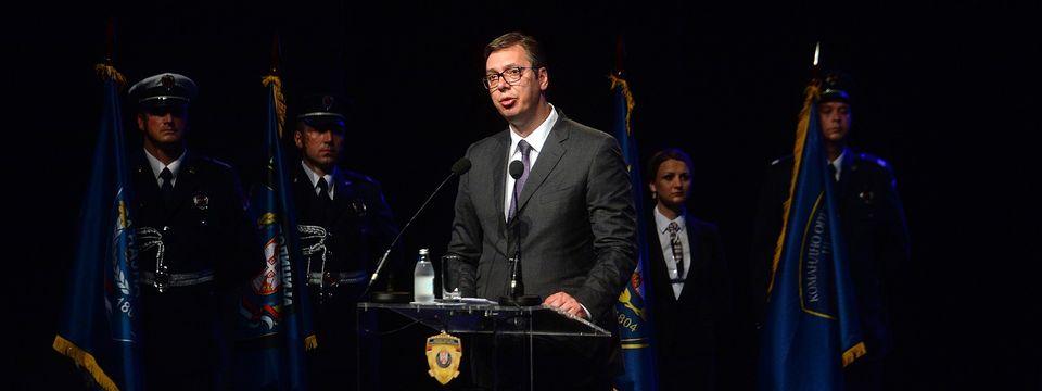 Predsednik Vučić prisustvuje centralnoj manifestaciji povodom proslave Dana MUP i Dana policije