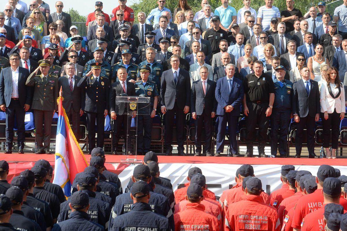 Председник Вучић присуствовао церемонији затварања међународне вежбе СРБИЈА 2019