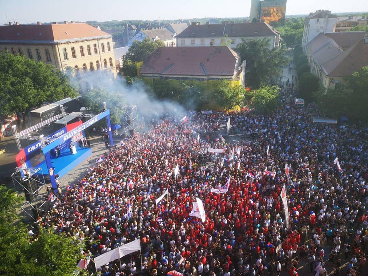 Predsednik Republike Srbije Aleksandar Vučić obišao Zapadnobački okrug u okviru kampanje