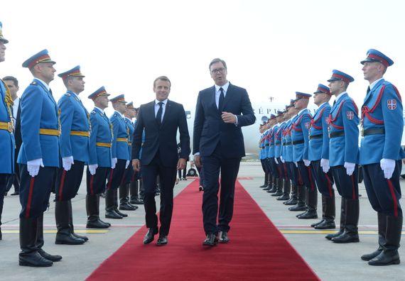 Svečani doček predsednika Republike Francuske Emanuela Makrona