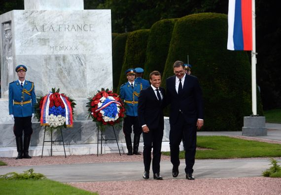 Полагање венаца на Споменик захвалности Француској на Калемегдану