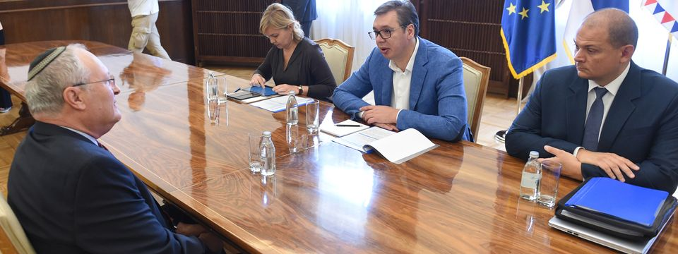 """Састанак са директором Центра """"Симон Визентал"""" Ефраимом Зурофом"""