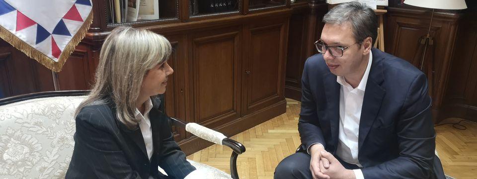 Председник Вучић састао се са власницом Канала 9 Мајом Павловић