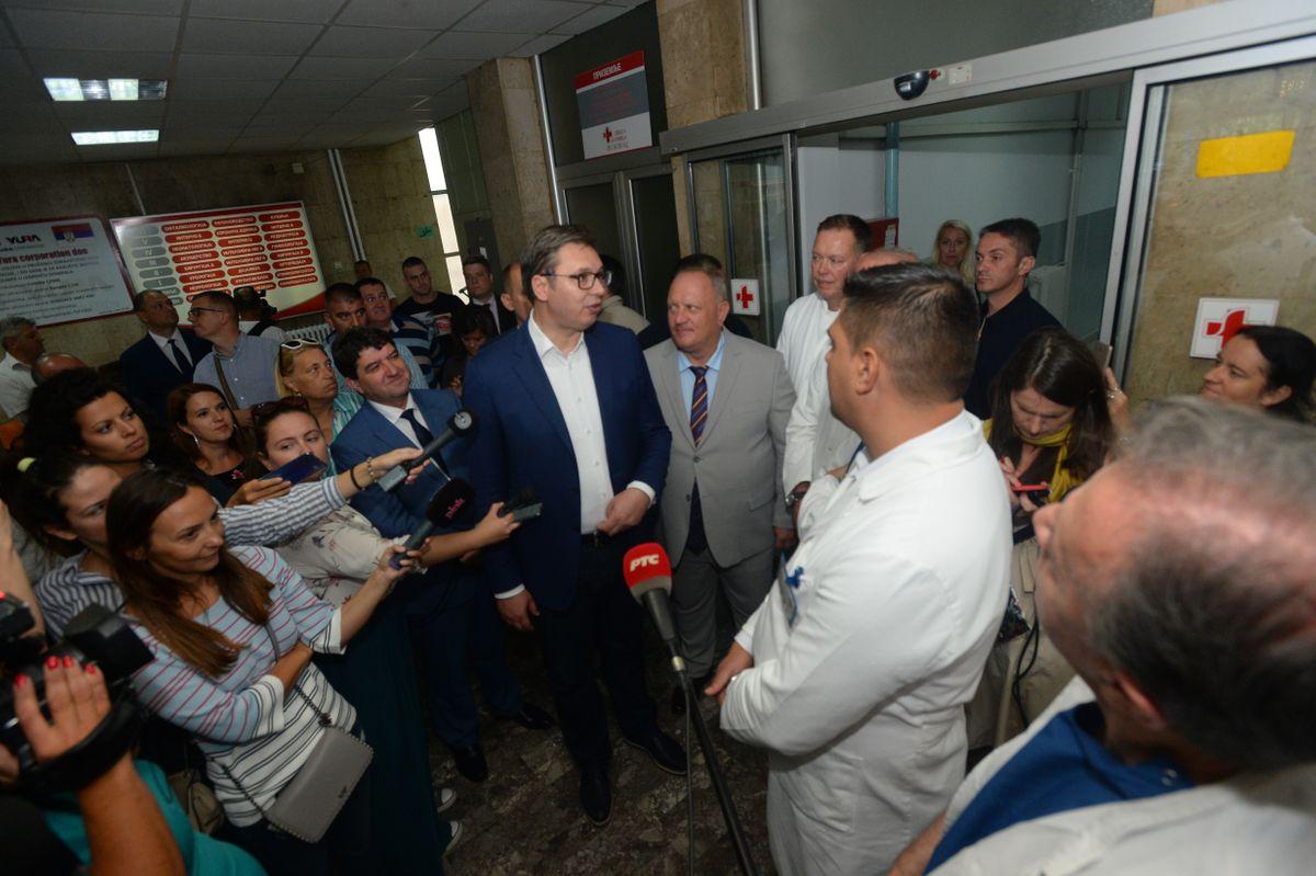 Председник Вучић посетио град Лесковац
