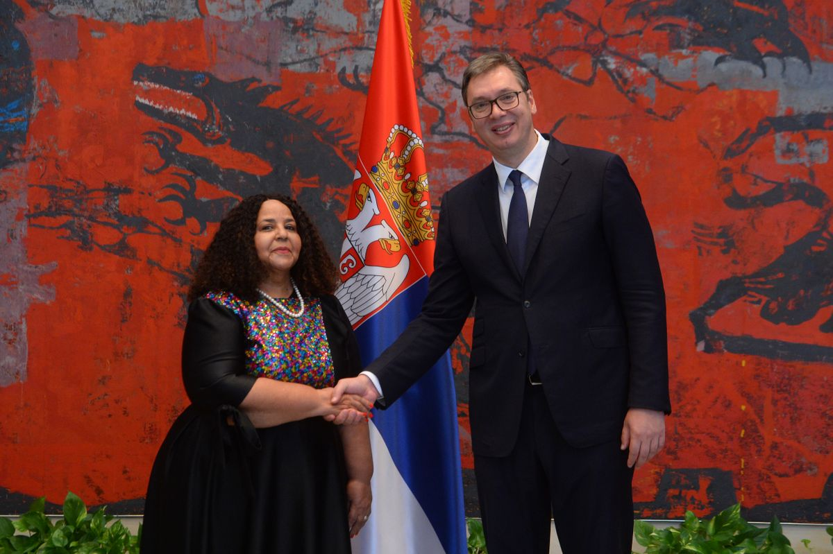 President Vučić receives the Letters of Credence from Non-Resident Ambassadors