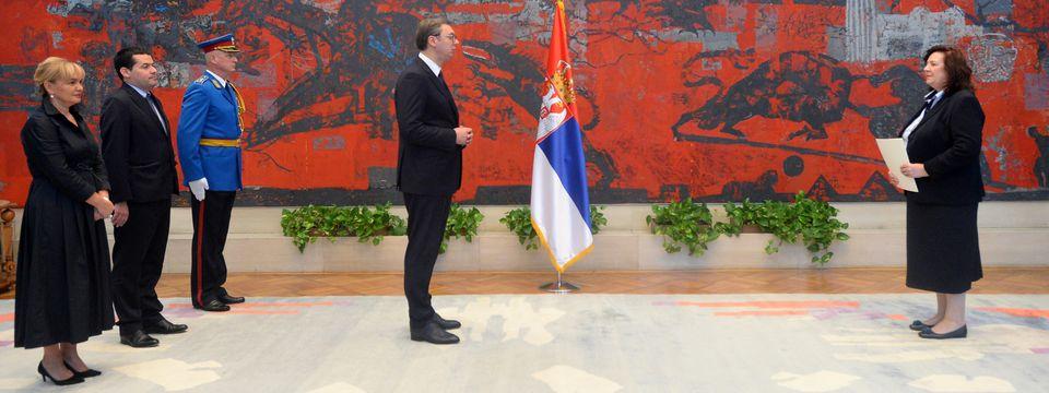 Predsednik Vučić primio akreditivna pisma novopostavljene ambasadorke Bosne i Hercegovine