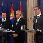 Predsednik Vučić razgovarao sa američkim senatorima Ronom Džonsonom i Krisom Marfijem