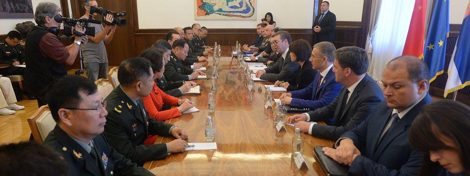 Састанак са првим потпредседником Централне војне комисије НР Кине