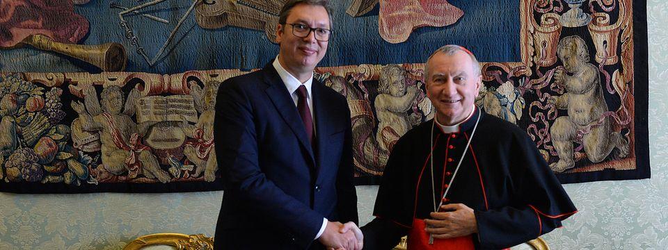 Председник Вучић састао се са државним секретаром Свете Столице