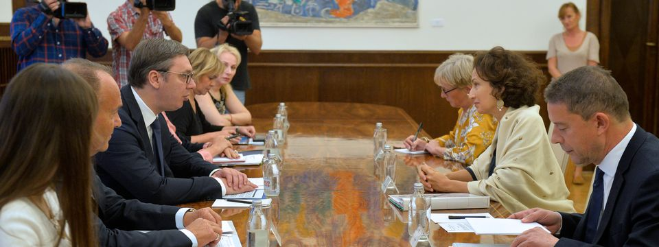 Председник Вучић састао се са генералном директорком УНЕСКО