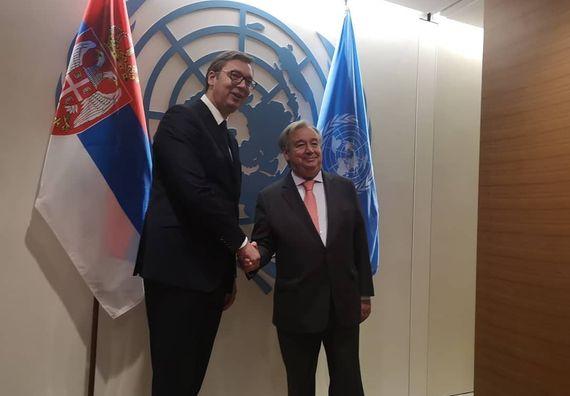 Predsednik Vučić sastao se sa generalnim sekretarom Ujedinjenih nacija