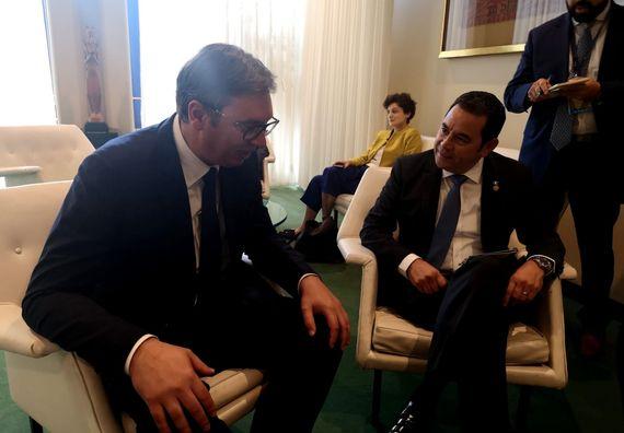 Predsednik Vučić sastao se u Njujorku sa predsednikom Republike Gvatemale
