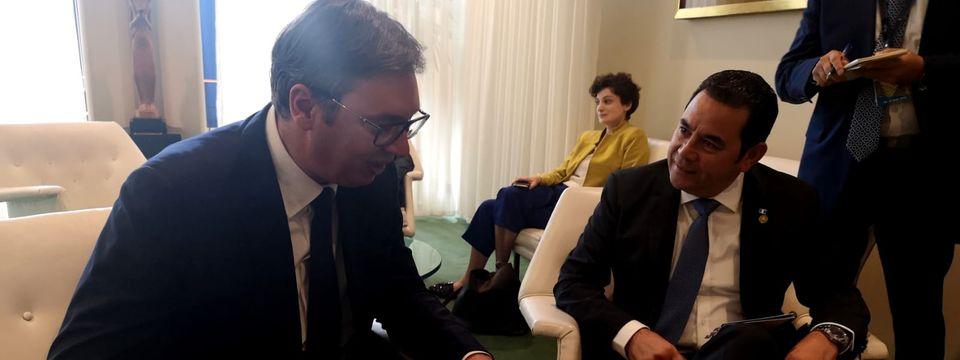 Председник Вучић састао се у Њујорку са председником Републике Гватемале