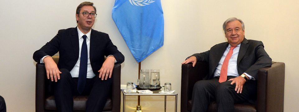Председник Вучић састао се са генералним секретаром Уједињених нација
