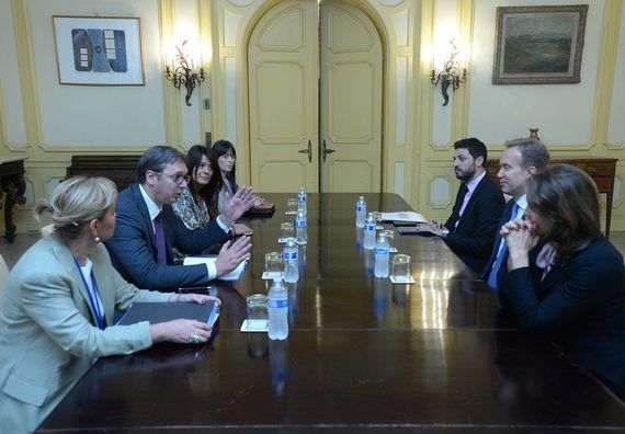 Sastanak sa predsednikom Svetskog ekonomskog foruma