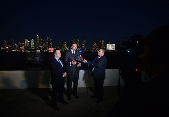 Predsednik Vučić daje izjave u Njujorku