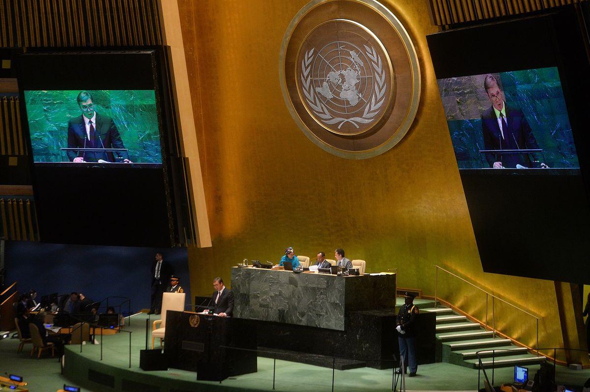 Обраћање председника Републике Србије на Генералној скупштини Уједињених нација
