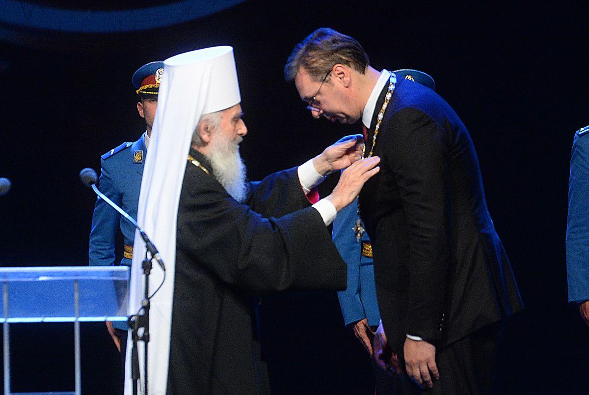 Председник Вучић одликован Орденом Светог Саве првога степена