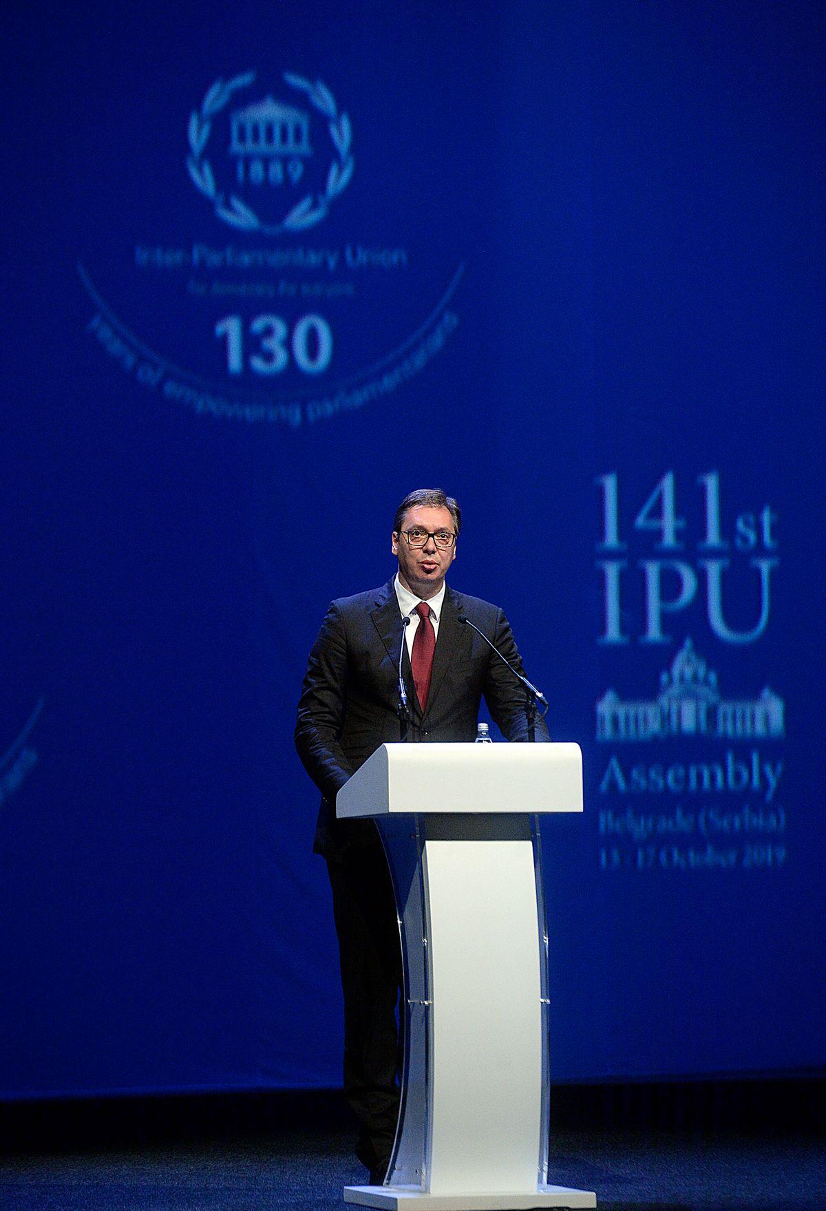 Председник Вучић свечано отворио 141. Скупштину Интерпарламентарне уније