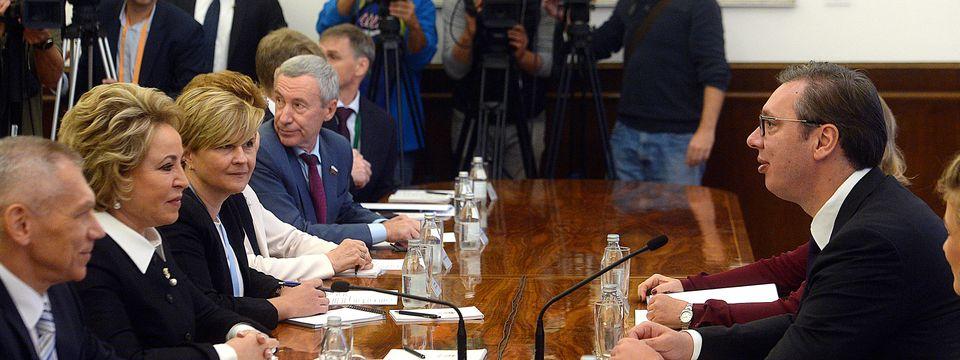 Председник Вучић састао са председницом Савета федерације Федералне скупштине Руске федерације
