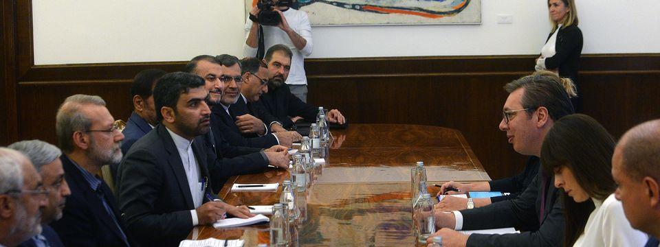 Predsednik Vučić sastao se sa predsednikom Parlamenta Irana