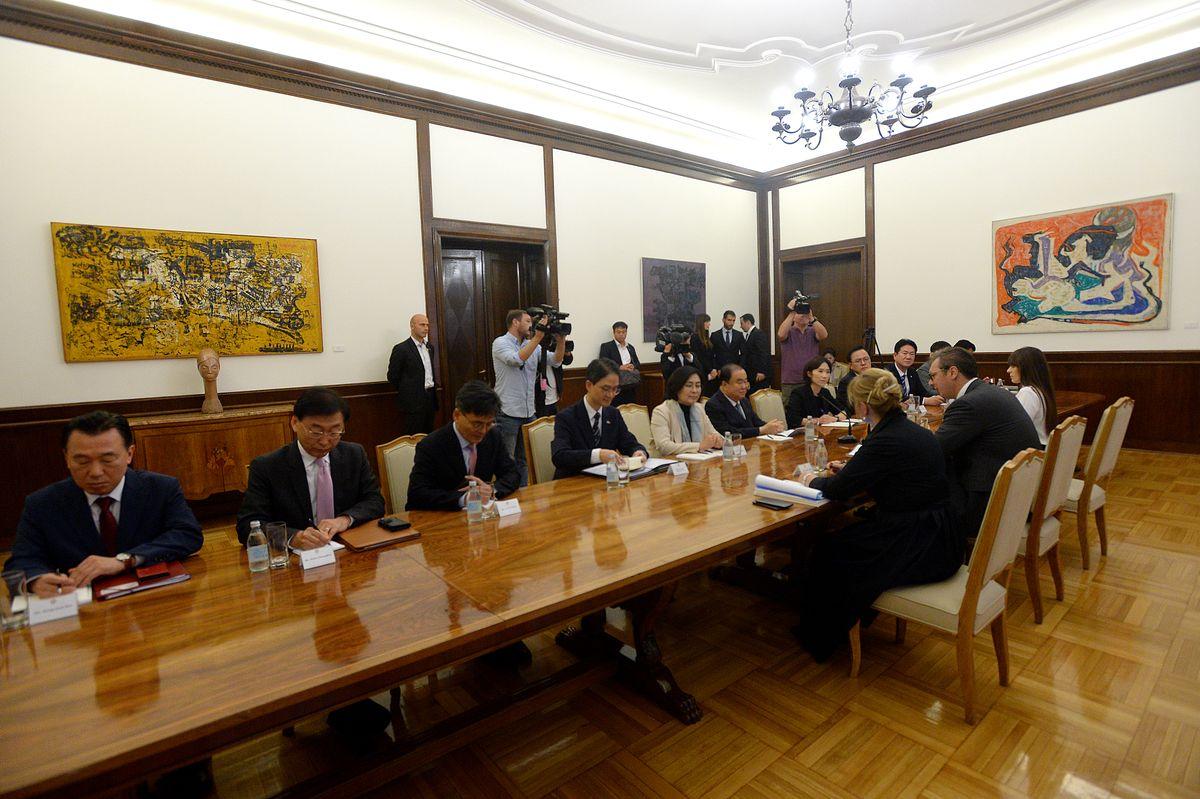 Predsednik Vučić sastao se sa predsednikom Parlamenta Republike Koreje