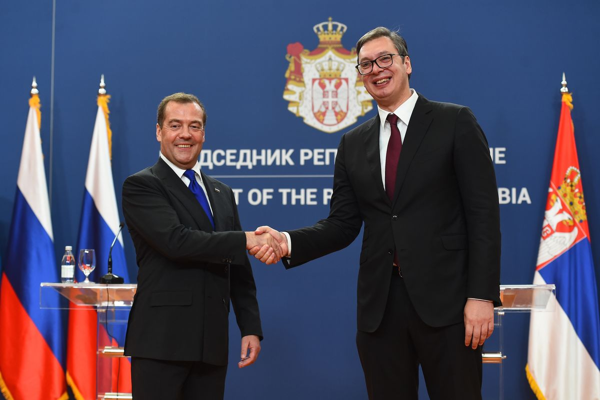 Prime Minister of the Russian Federation in a one-day visit to Serbia