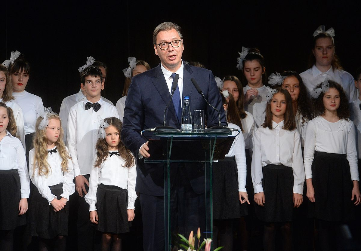 """Predsednik Vučić prisustvovao svečanom otvaranju obnovljenog pozorišta """"Bora Stanković"""""""