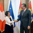 Predsednik Vučić sastao se sa predsednicom Saveta za dualno obrazovanje Švajcarske Ursulom Rejnold.