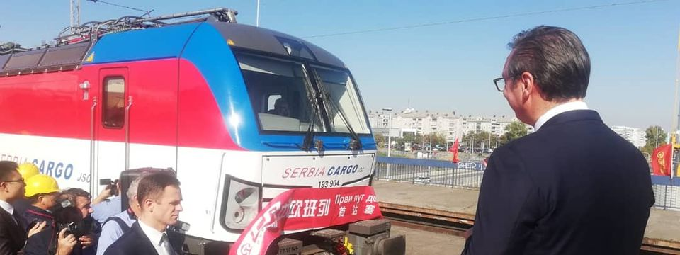 Predsednik Vučić prisustvovao dolasku prvog teretnog Voza iz Kine u Srbiju