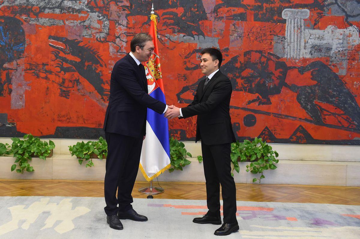 Novoimenovani ambasador Republike Kazahstan predao akreditivna pisma predsedniku Vučiću