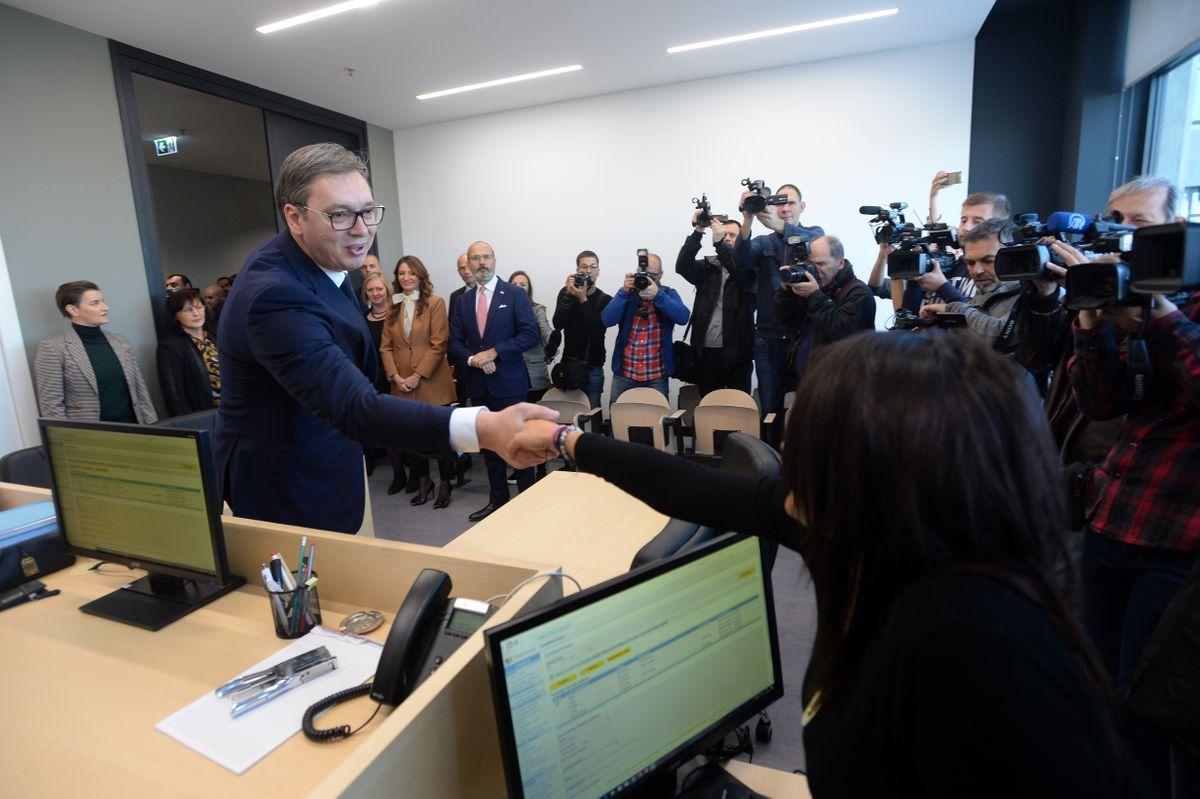 Predsednik Vučić prisustvovao otvaranju renovirane zgrade Palate pravde