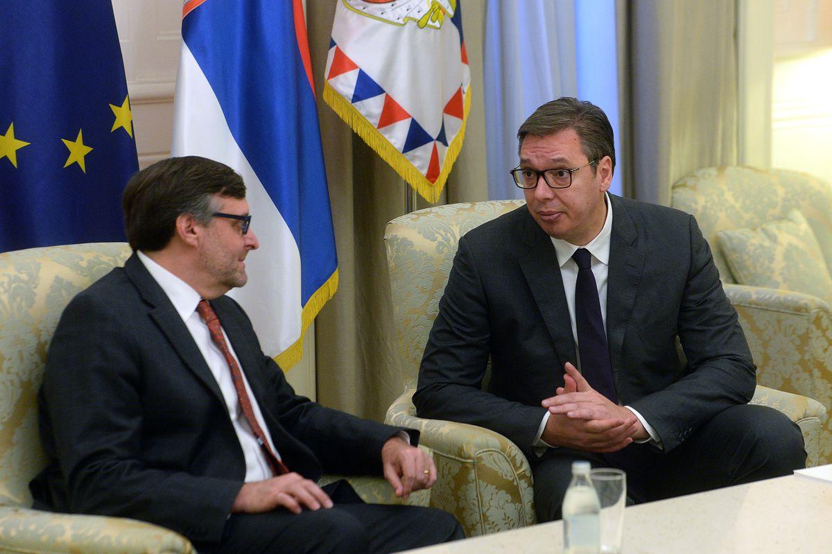 Predsednik Vučić sastao se sa zamenikom pomoćnika državnog sekretara SAD i specijalnim predstavnikom za Zapadni Balkan