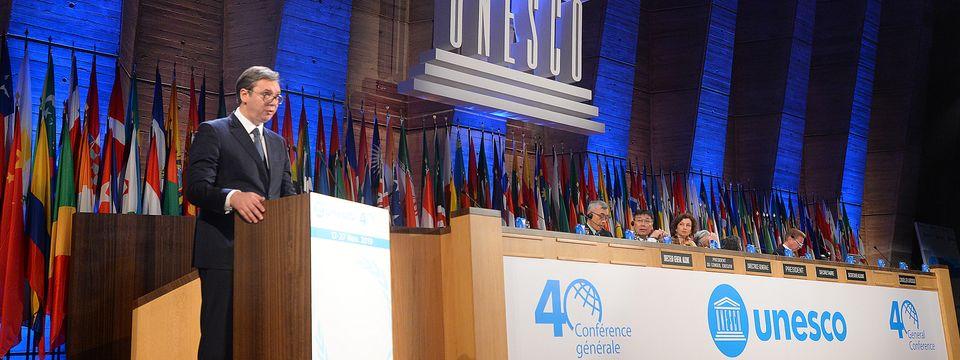 Обраћање председника Вучића на 40. заседању Генералне конференције Унеска
