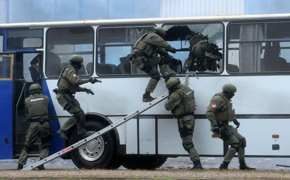 Pokazna vežba pripadnika MUP Republike Srbije i specijalnih jedinica policije Ministarstva javne bezbednosti NR Kine